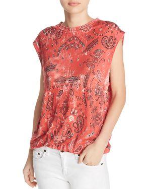 Iro. Jeans Nungui Printed Muscle Tee, Red