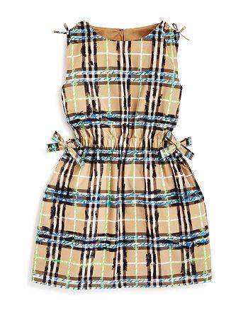 Burberry - Girls' Candra Scribble Check Dress - Little Kid, Big Kid