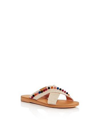 38535119173 TOMS - Girls  Viv Hemp Crisscross Slide Sandals - Toddler