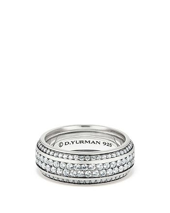 David Yurman - Exotic Stone Streamline Pavé Band Ring with Gray Sapphire