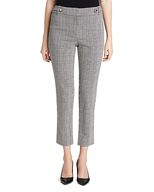Calvin Klein Glen Plaid Straight Ankle Pants