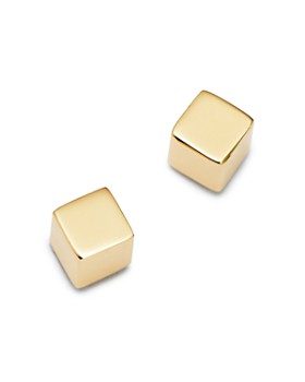 Moon & Meadow - Cube Stud Earrings in 14K Yellow Gold - 100% Exclusive