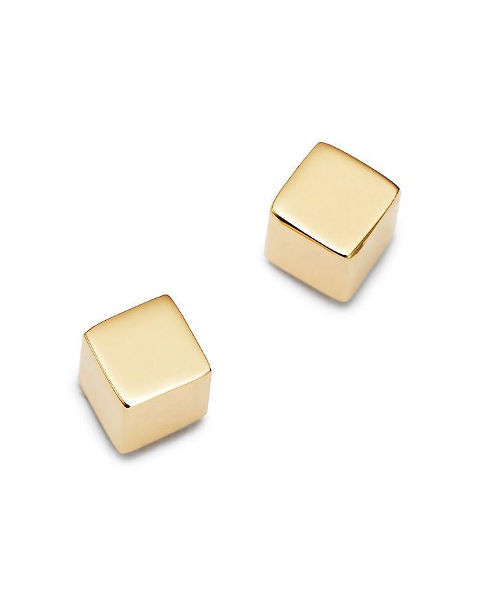 Moon & Meadow - Cube Stud Earrings in 14K Yellow Gold - 100% Exclusive