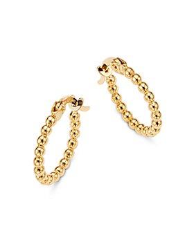 Moon & Meadow - Beaded Hoop Earrings in 14K Yellow Gold - 100% Exclusive