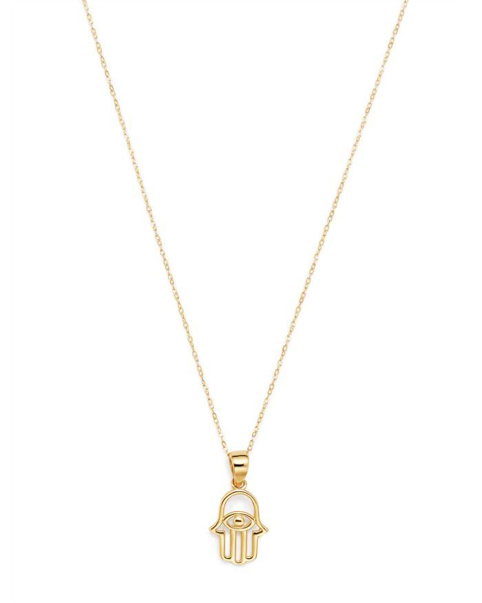 "Moon & Meadow Hamsa Hand Pendant Necklace in 14K Yellow Gold, 16"" - 100% Exclusive     Bloomingdale's"