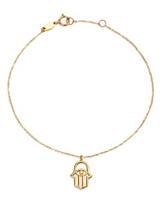 Moon & Meadow - Hamsa Hand Charm Bracelet in 14K Yellow Gold - 100% Exclusive