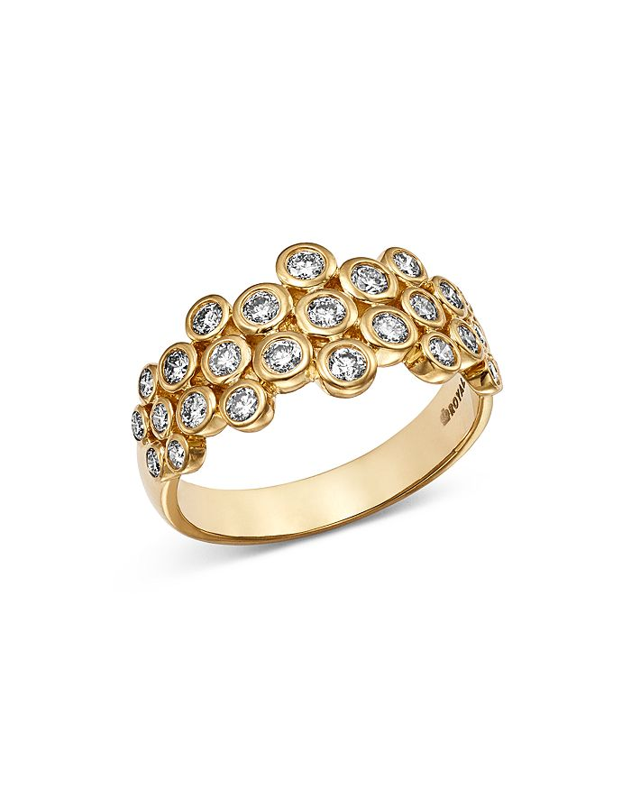 Bloomingdale's - Diamond Bezel Set Cluster Ring in 14K Yellow Gold, 0.75 ct. t.w. - 100% Exclusive
