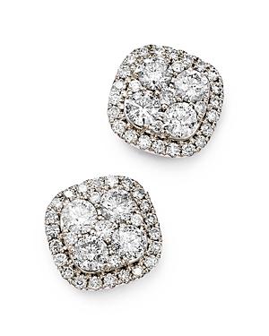 Bloomingdale's Diamond Cluster Stud Earrings in 14K White Gold, 2.0 ct. t.w- 100% Exclusive