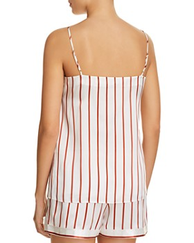 GINIA - Striped Silk Cami & Shorts