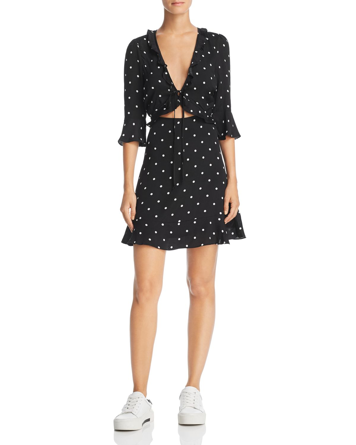 Luciana Polka Dot Dress   100 Percents Exclusive by For Love & Lemons