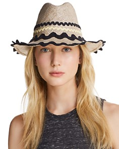 Exquisite J Packable Ric Rac-Trim Fedora - Bloomingdale's_0