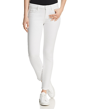 Paige Skyline Ankle Peg Jeans in Crisp White