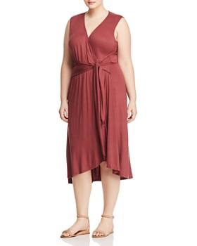 B Collection by Bobeau Curvy - Rowan Faux-Wrap Dress - 100% Exclusive