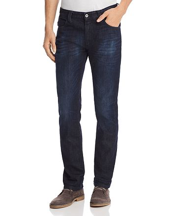 Emporio Armani - Straight Fit Five Pocket Jeans in Dark Wash Blue