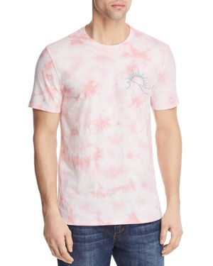 PACIFIC & PARK SUN AND WAVES TIE DYE TEE - 100% EXCLUSIVE