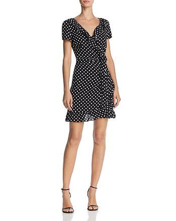 AQUA - Polka Dot Wrap Dress - 100% Exclusive