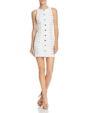 Guess Lace-Up Denim Dress