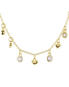 "Argento Vivo - Heart Dangle Necklace, 16"""