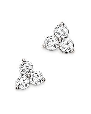 Bloomingdale's Diamond Three Stone Stud Earrings in 14K White Gold, 1.50 ct. t.w. - 100% Exclusive