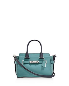 COACH - Swagger 27 Colorblock Mixed Leather Satchel