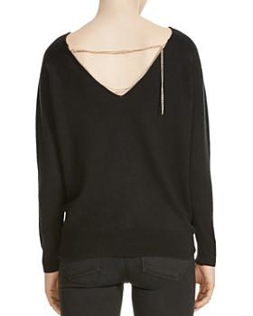 Maje - Macademia Chain-Back Sweater