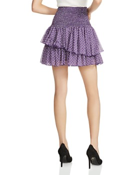 Maje - Joumi Smocked Printed Mini Skirt