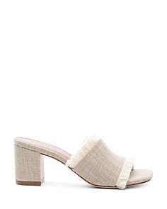 Bernardo - Women's Blaire Frayed Block Heel Slide Sandals