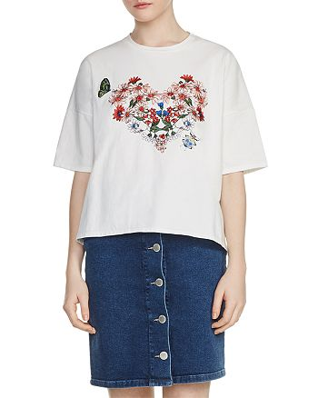 a4bb6a1c5 Maje Tama Floral Embroidered Tee | Bloomingdale's