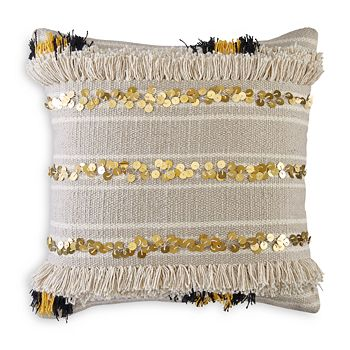 """BCBGeneration - Moroccan Paillettes Decorative Pillow, 18"""" x 18"""""""