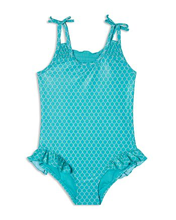 Hula Star - Girls' Shimmer Mermaid Princess Swimsuit - Little Kid