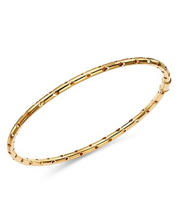 Bloomingdale's - Perforated Bangle Bracelet in 14K Yellow Gold - 100% Exclusive