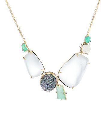 "Alexis Bittar - Stone Cluster Bib Necklace, 16"""