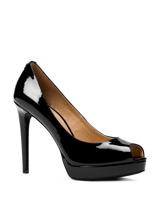 MICHAEL exmORJWK3x ERIKA PLATFORM - Peeptoe heels - black e9ePU