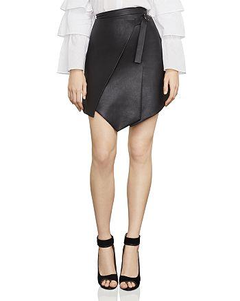 BCBGMAXAZRIA - Yulissa Asymmetric Faux Leather Skirt