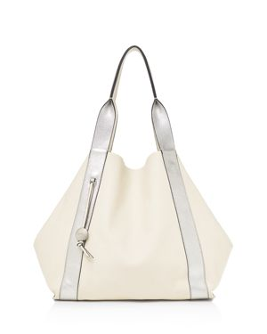 BAILY REVERSIBLE CALFSKIN LEATHER TOTE - IVORY