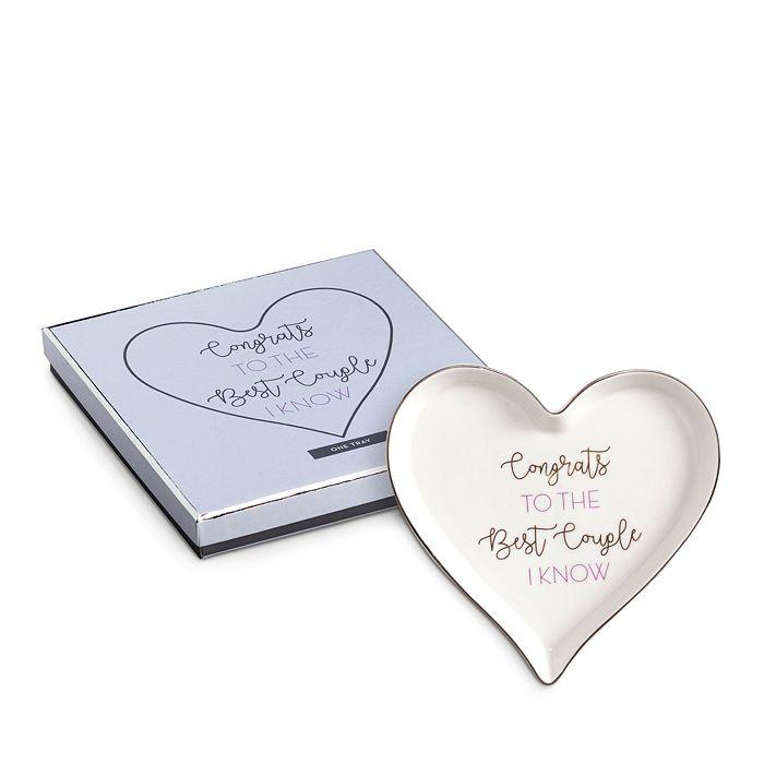 Rosanna - Congrats to the Best Couple I Know Heart Tray