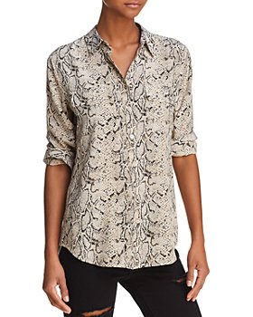 Equipment - Slim Signature Printed Silk Shirt