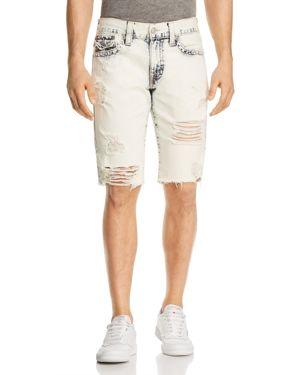 True Religion Geno Slim Fit Shorts in Worn Cloudfall