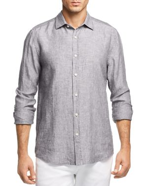 The Men's Store at Bloomingdale's Linen Regular Fit Button-Down Shirt - 100% Exclusive
