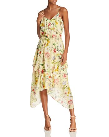 Parker - Vanna Floral-Print Silk Midi Dress