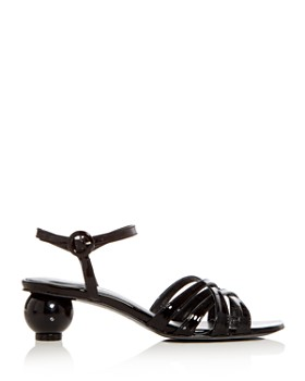 Carel - Women's Patent Leather Crisscross Sphere Heel Sandals