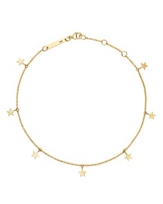 Zoë Chicco - 14K Yellow Gold Itty Bitty Star Charm Ankle Bracelet