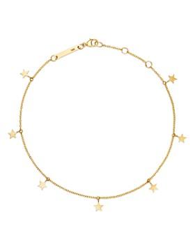Zoë Chicco - 14K Yellow Gold Itty Bitty Star Charm Ankle Bracelet