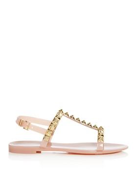 Stuart Weitzman - Women's Jelrose Studded T-Strap Jelly Sandals