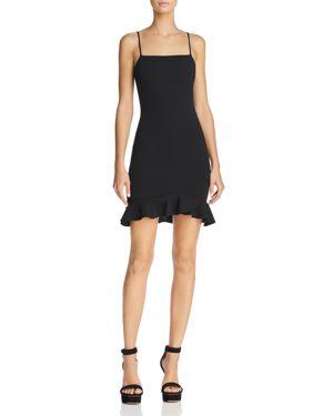 SUNSET & SPRING Sunset + Spring Ruffle-Hem Body-Con Dress - 100% Exclusive in Black