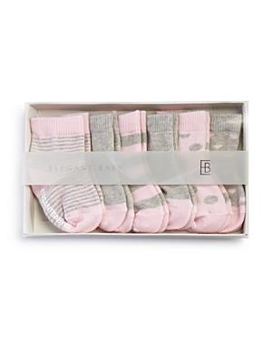 Elegant Baby Girls Classic Pink Socks 6 Pack  Baby