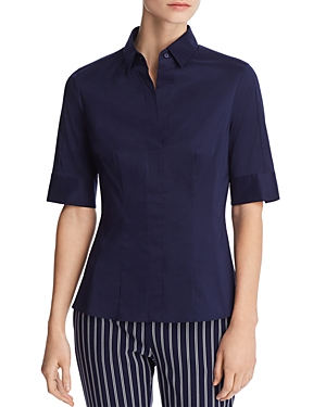Boss Bashini 2 Short-Sleeve Fitted Top