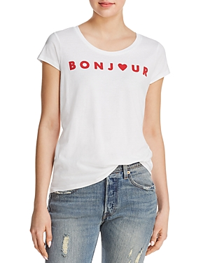 French Connection Bonjour Graphic Tee