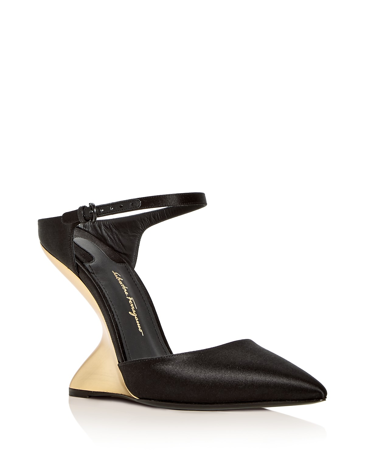 Salvatore Ferragamo Women's Naturno Satin F-Wedge Pumps qHsQbCPgU