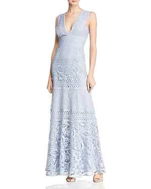 Bcbgmaxazria Mixed Lace Gown